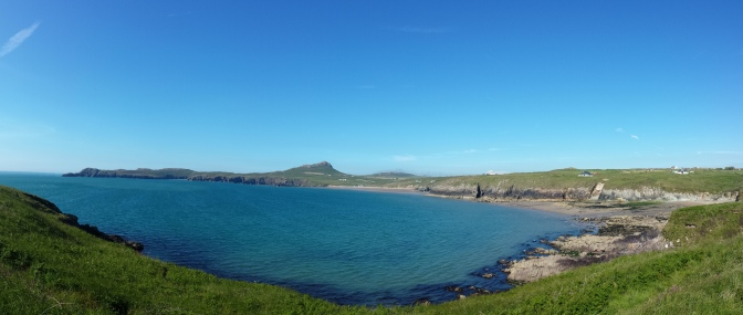 Whitesands Bay from Pencarnan land