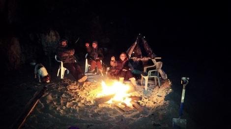 Christmas eve camp out on Porthsele